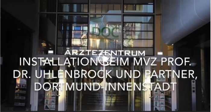 Screenshot of the Video: Installation Dortmund